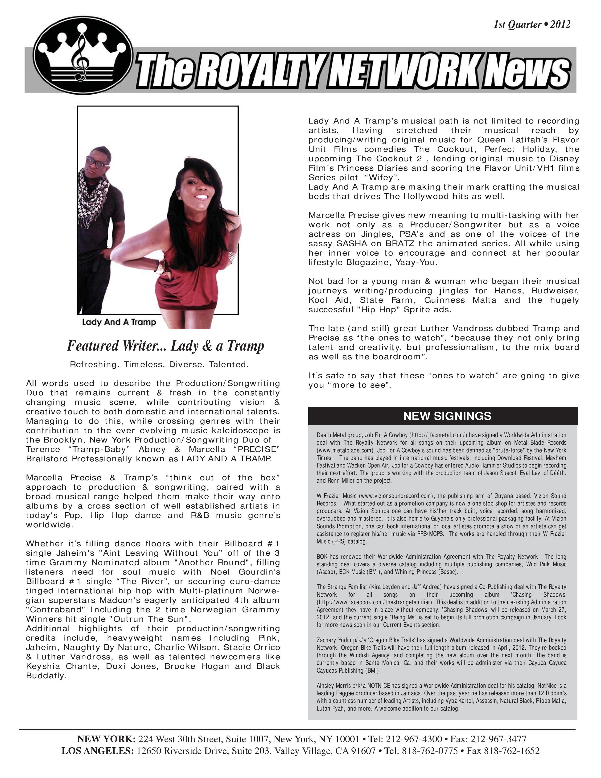 1st Quarter 2012 Newsletter