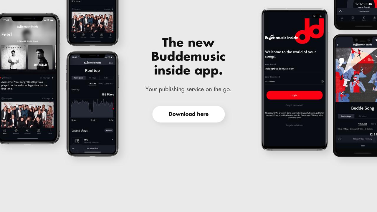Buddemusic inside App
