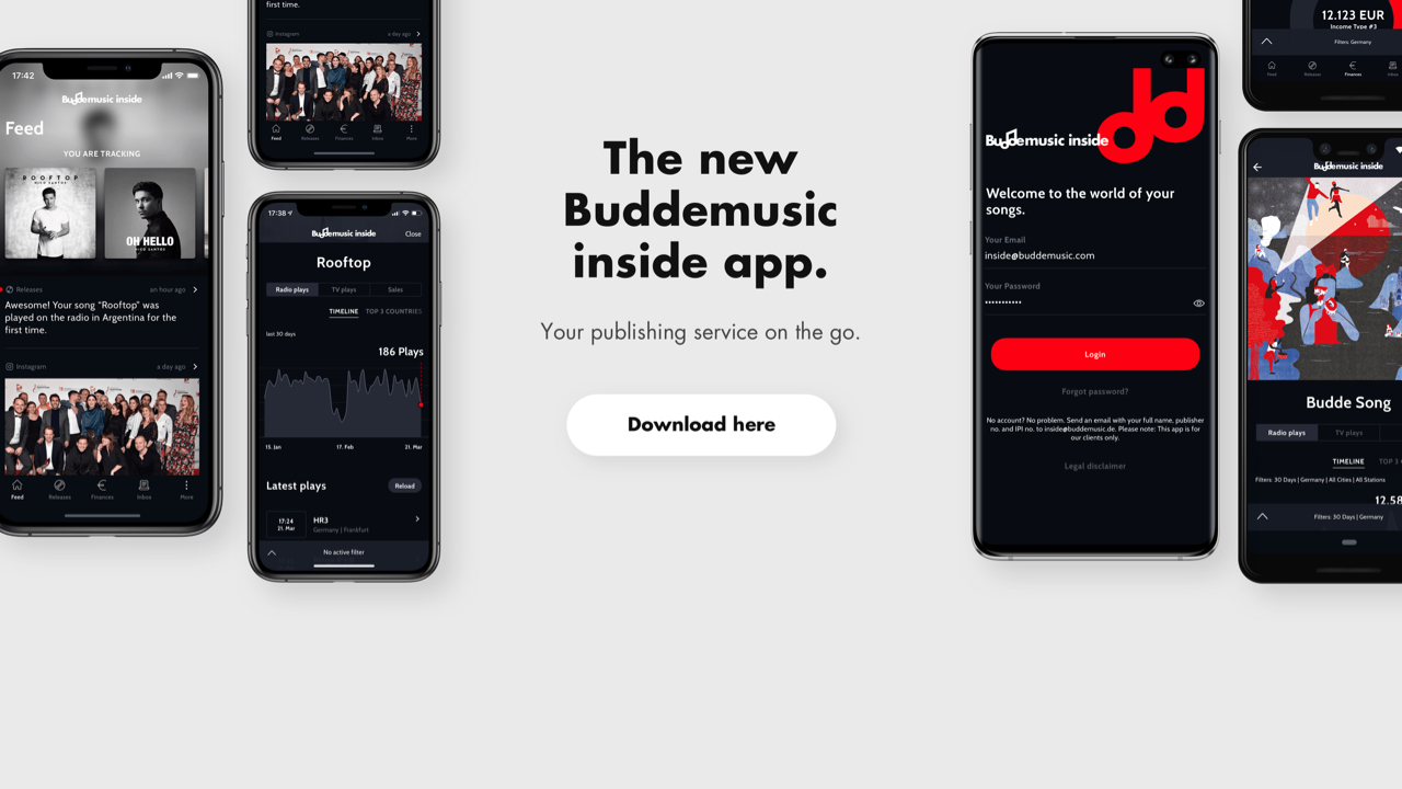 Buddemusic inside App