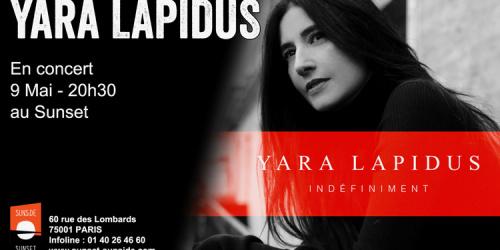 Yara Lapidus en concert le 9 mai 2019