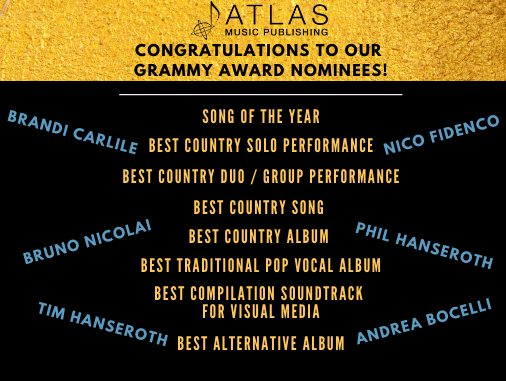 Atlas Writers 2020 Grammy Nominees