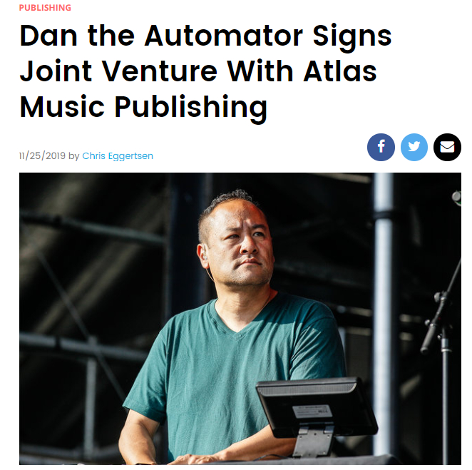 Billboard Exclusive: Dan the Automator Signs Joint Venture With Atlas Music Publishing