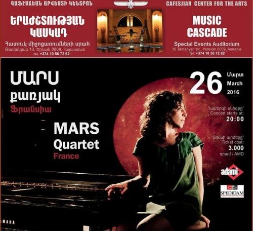 Macha Gharibian et Le Mars Quartet en Arménie ... Et le nouvel album en route !