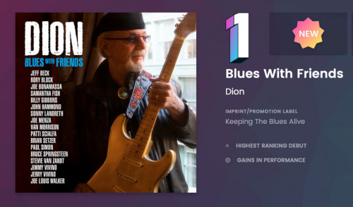 Dion's 'Blues With Friends' Hits #1 on Billboard's Blues Albums Chart