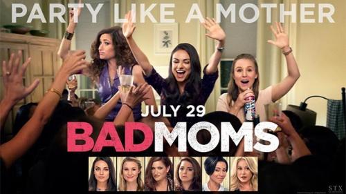 "BAD MOMS trailer featuring ""FEELIN' BRAND NEW"""
