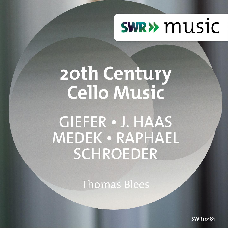 20th Century Cello Music