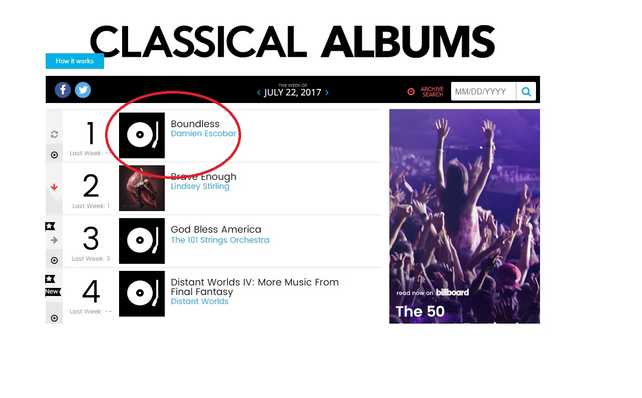 Damien Escobar: #1 Album on Billboard