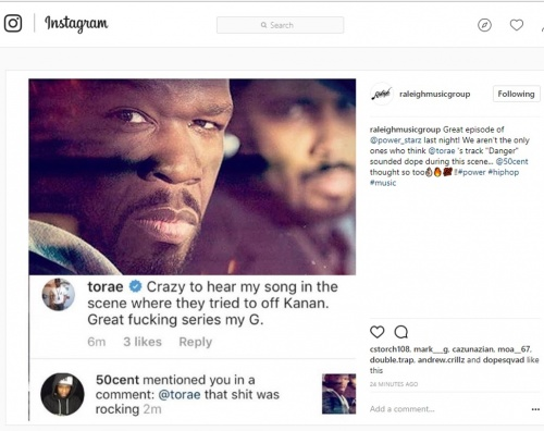 Torae's Danger Synched in Hit TV Series 'POWER""