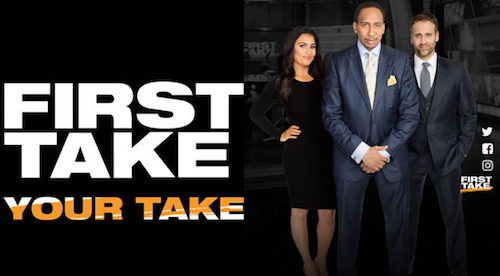 """""""They Ain't Talkin' Now"""" Featured Throughout February On ESPN's First Take"""