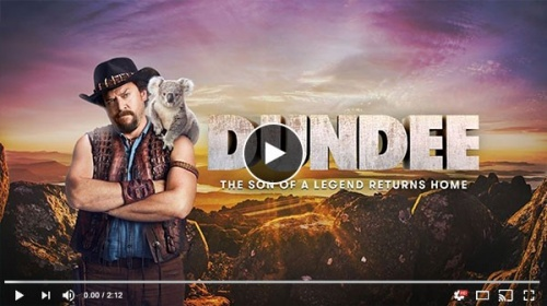 William Barton's Music Opens Faux Dundee Trailer, Superbowl Audience of 110 Million