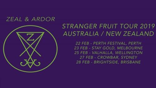 Zeal & Ardor Announce Australia and New Zealand Tour